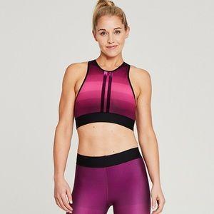 NWT Ultracor Gradient Stripe Sports Bra Crop Top